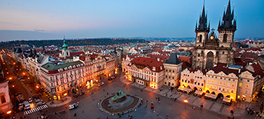 Съемка в Праге